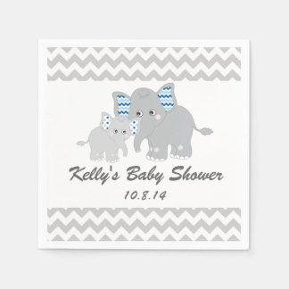 Serviette jetable de baby shower d'éléphant
