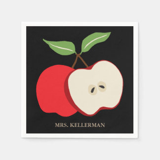 Serviette Jetable Demi d'Apple ajoutent le nom du professeur