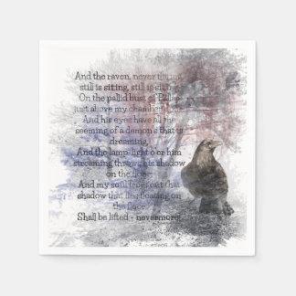 """Serviette Jetable Edgar Allen Poe """"oiseau Halloween de corbeau de"""