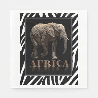 SERVIETTE JETABLE ÉLÉPHANT AFRICAIN