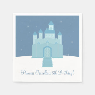 Serviette Jetable Fête d'anniversaire congelée par glace de