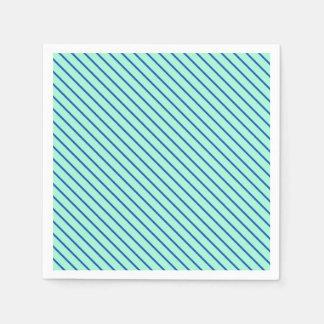 Serviette Jetable Filets diagonaux - aqua et marine