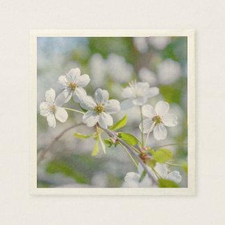 Serviette Jetable Fleur blanche de cerise
