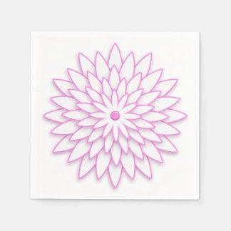 Serviette Jetable Fleur géométrique abstraite