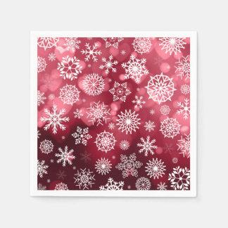 Serviette Jetable Flocons de neige sur une serviette de l'arrière -