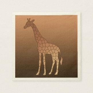 Serviette Jetable Girafe, cuivre et Brown géométriques modernes