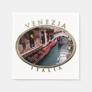 Serviette Jetable Gondoles sur un canal vénitien