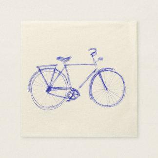 Serviette Jetable Griffonnage de bicyclette