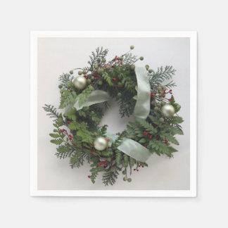 Serviette Jetable Guirlande verte de Noël