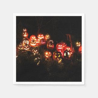 Serviette Jetable Halloween Jack-o'-lantern recueillant la serviette