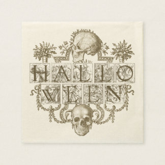 Serviette Jetable Halloween vintage