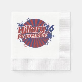 Serviette Jetable Hillary Clinton 2016