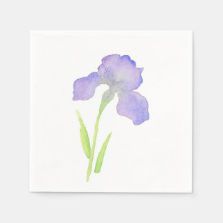Serviette Jetable Iris violet