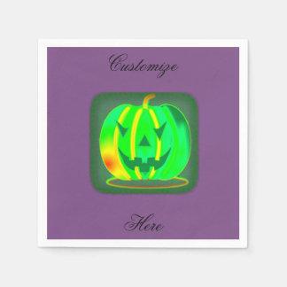 Serviette Jetable Jack vert Halloween o'lantern Thunder_Cove