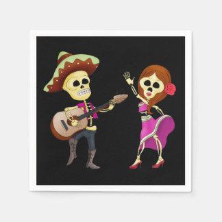 Serviette Jetable Jour de couples de danse de mariachi des morts