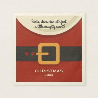 Serviette Jetable Joyeux Noël drôle le père noël vilain et Nice