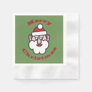 Serviette Jetable Joyeux Noël, Noël le père noël