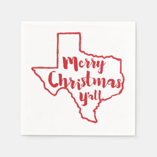 Serviette Jetable Joyeux Noël vous serviettes d'état du Texas
