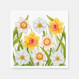 Serviette Jetable La jonquille de ressort fleurit des serviettes