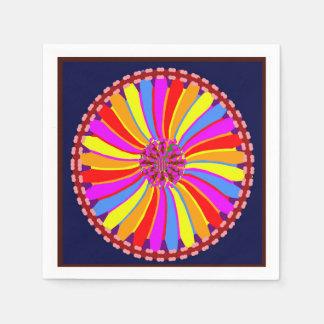 Serviette Jetable La serviette de papier fleurit l'ART de guirlandes