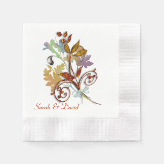Serviette Jetable L'automne riche colore le bouquet floral