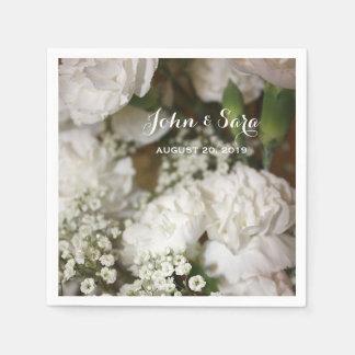 Serviette Jetable Le mariage fleurit la photo, mariage personnalisé