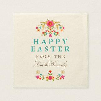 Serviette Jetable Le pays fleurit des serviettes de Pâques