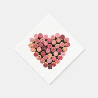 Serviette Jetable Le vin bouche des serviettes de coeur