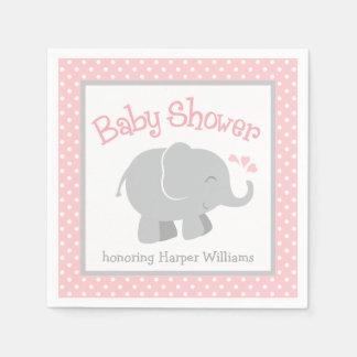 Serviette Jetable Les serviettes de baby shower d'éléphant |