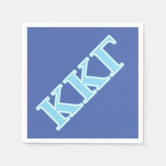 Serviette Jetable Lettres gamma de bleus layette de Kappa de Kappa