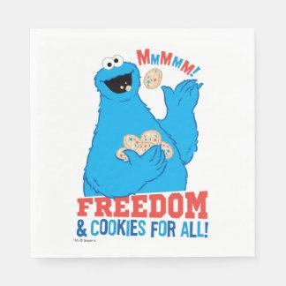 Serviette Jetable Liberté et biscuits pour tous !