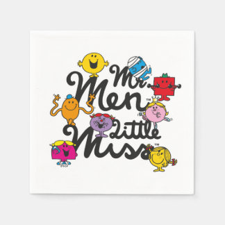Serviette Jetable Logo de groupe de M. Men Little Mlle  