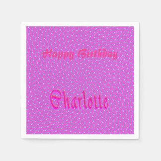 Serviette Jetable Logo nommé de filles de Charlotte,