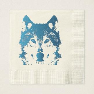 Serviette Jetable Loup de bleu glacier d'illustration