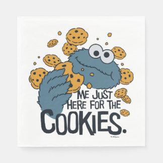 Serviette Jetable Monstre de biscuit | je juste ici pour les