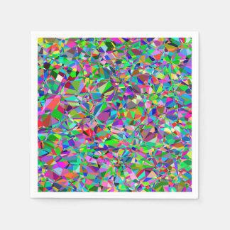 Serviette Jetable Motif en verre souillé d'abrégé sur couleur