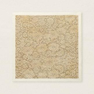 Serviette Jetable Motif floral de vieille dentelle de crochet + vos