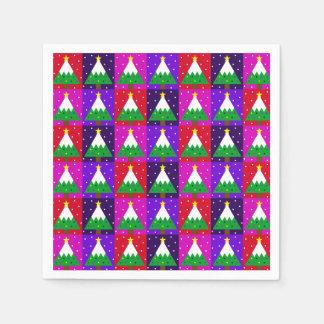Serviette Jetable Motif génial d'arbre de Noël