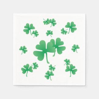 Serviette Jetable Motif irlandais vert de shamrock de gradient
