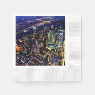 Serviette Jetable New York City, Manhattan, paysage urbain des