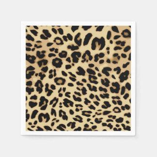 Serviette Jetable Noir/or de poster de animal de motif de léopard