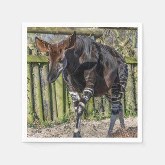 Serviette Jetable Okapi au zoo