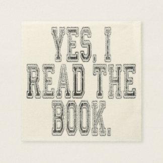 Serviette Jetable Oui j'ai lu le gris de livre