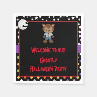 Serviette Jetable Partie mignonne de Halloween de loup-garou de
