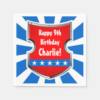 Serviette Jetable Partie patriotique d'anniversaire de enfant de