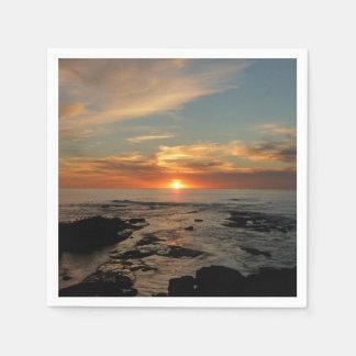Serviette Jetable Paysage marin du coucher du soleil II la