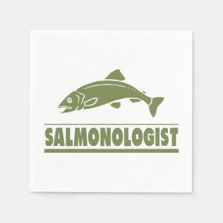 Serviette Jetable Pêche saumonée humoristique