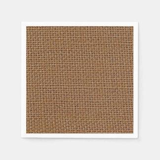 Serviette Jetable Photo de toile de jute de jute de brun foncé