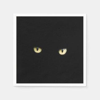 Serviette Jetable Plots réflectorisés noirs | Halloween