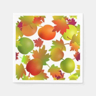 Serviette Jetable Pommes et feuille du marché de l'agriculteur